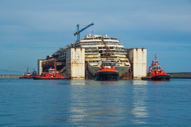Cruise ship Costa Concordia recycled in Italy