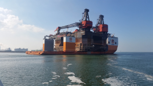 Crane vessel Hermod transported from Rotterdam for recycling in China